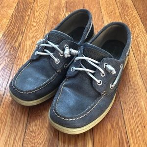 Sperry Top-Sider Navy/Silver Boat Shoes, 8.5